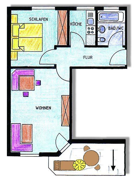 Grundriss der Wohnung Widderstein